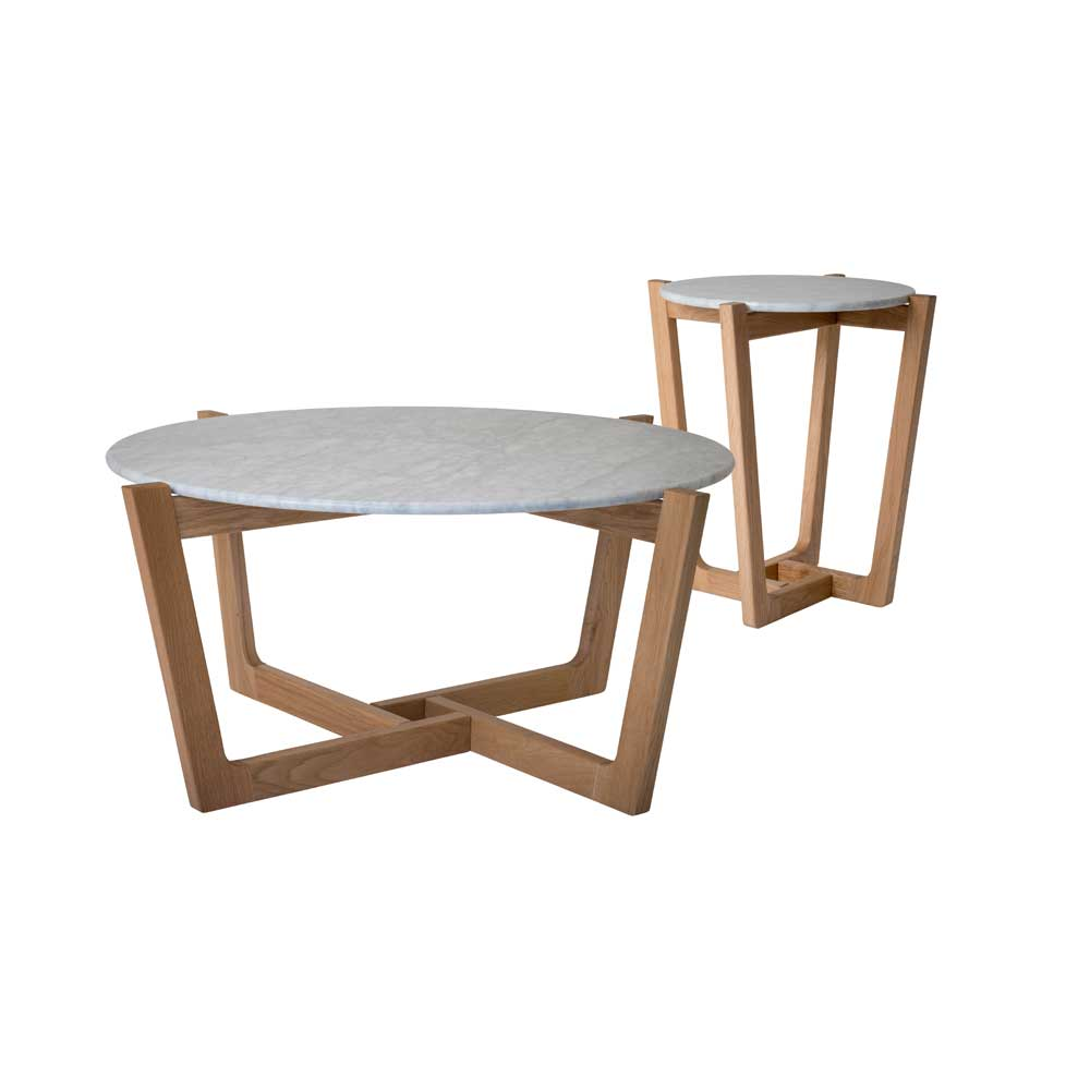 Hawthorne Marble Coffee/Side Tables <b> $499 / $250 </b>